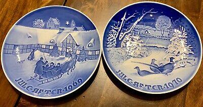 Royal Copenhagen B & G Christmas Plates 1969-1970