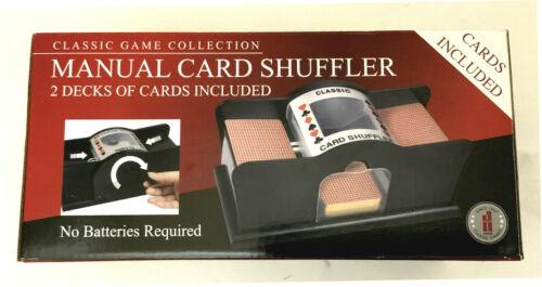 NEW - 2 deck, MANUAL HAND CRANK Card Shuffler by John Hansen Co