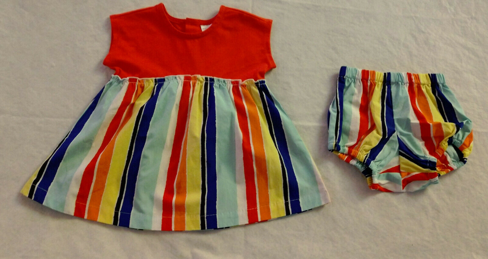 NWT Hanna Andersson Sunny Days Striped Dress Bloomers 75 12-