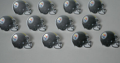 12 NFL Pittsburgh Steelers Football Cup Cake Rings Topper Party Bag Favor Supply - Steelers Party Favors