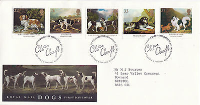 8 JANUARY 1991 DOGS CRUFTS ANNIVERSARY ROYAL MAIL FIRST DAY COVER BUREAU SHS (d)