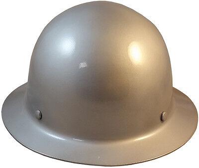 Msa Silver Skull Gard Fiberglass Fb Hard Hat With Ratchet Or Pin Lock Susp