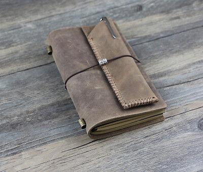 vintage Diary Notebook Journal Daily style22 blown + pen bag 2 pcs set  D0421 Style Journal Set