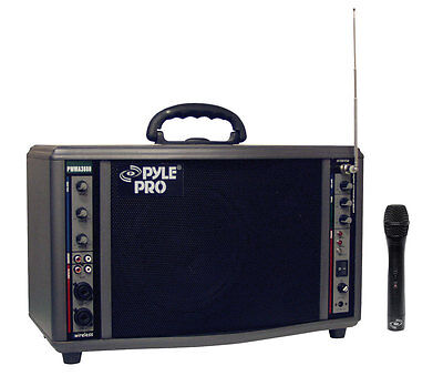 Wireless Battery Powered Pa System - New Pyle PWMA3600 200 Watt Wireless Battery Powered PA System