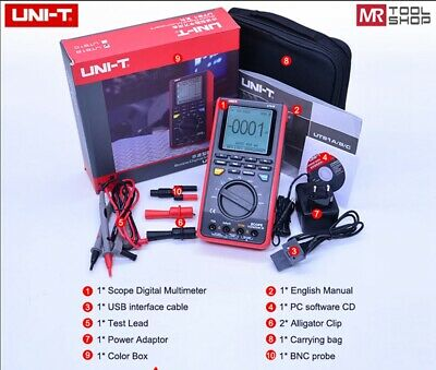 Uni-t Ut81b Scope Digital Multimeter Oscilloscope Ac Dc Tester 8mhz 40mss Usb