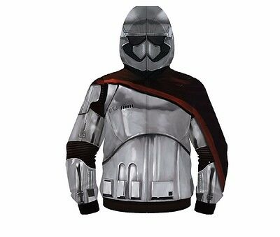 Star Wars The Force Awakens Captain Phasma Costume Adult Fleece Hoodie - Star Wars Costume Hoodie