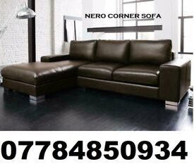 leather nero corner sofa brown