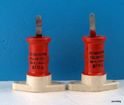 2pcs Rft Draloric Standard Capacitor Rc16x40 40pf 4.5kv 4.2kva Arms-5a