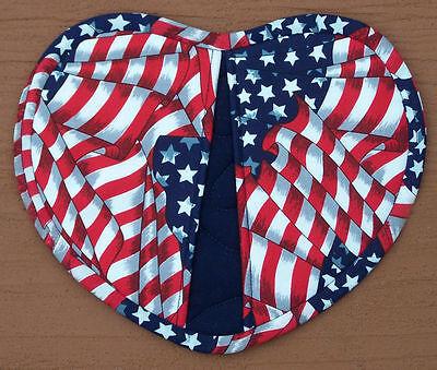 Heart Shaped Flag American Stars Patriotic Oven Mitt Pot Holder