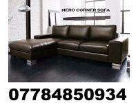 leather nero corner sofa brown