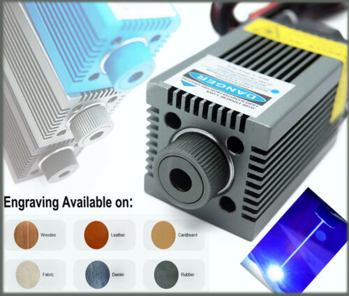 PWM/TTL Blue Laser Engraving Module/Focusable 450nm 8W High Power Etcher Laser