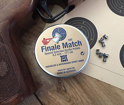 Finale Match Flat Rifle Pellets .177