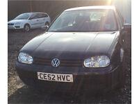 2002 VW GOLF 1.9 GT TDI 5 DOOR MANUAL LONG MOT VERY CLEAN CAR