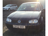 2002 VW GOLF 1.9 GT TDI 5 DOOR MANUAL LONG MOT VERY CLEAN CAR