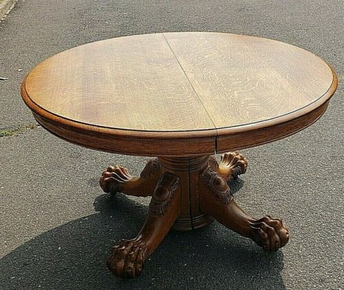 Awesome Antique Oak Dining Room Table~Circa 1890~Seats 8-10 People~We Ship!
