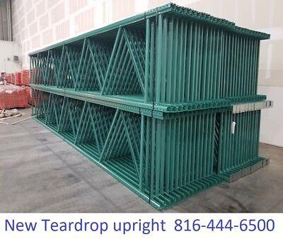 New Teardrop Pallet Rack 16 X 42 Upright Frame Green Tower