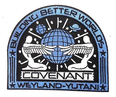 Alien Covenant Weyland Yutani Bbw Movie Deluxe Uniform Patch  Blue  Alpa 68