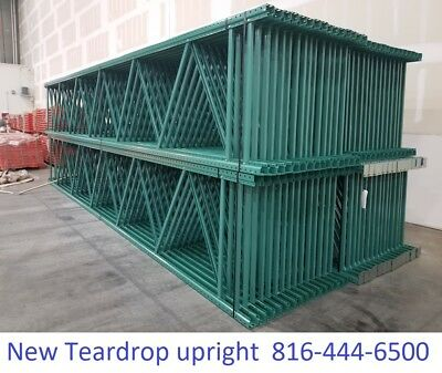 Teardrop Pallet Rack Shelving Racking Sections Scaffolding One Upright 12x42
