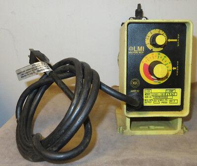 Lmi Milton Roy J161-191s Metering Pump Yellow