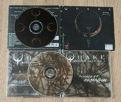 Quake PC CD-ROM & Mission Pack Number 1 No 1 Scourge of Armagon comprar usado  Enviando para Brazil