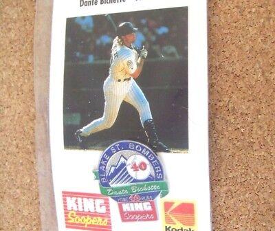1996 Colorado Rockies Blake St Bombers Pin  4 Dante Bichette King Soopers