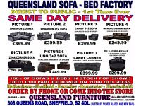 QUEENSLAND FURNITURE VISIT OUR SHOWROOM BRAND NEW LEATHER FABRIC CORNER 3+2 SOFAS AT TRADE PRICES