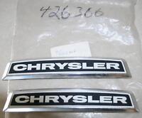 NOS 1980's Chrysler Hood Emblems