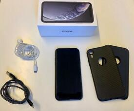 iPhone XR 64gb - Black - Great Condition - with Charger, Box, Cases, Headphones