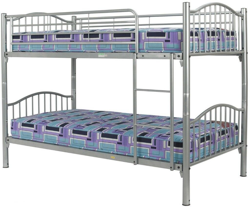 3ft Single Metal Bunk Bed Mattresses Included In Acton London