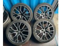"18"" AUDI S3 RS3 A3 A4 A5 A6 RS6 5x112 alloy wheels with tyres 5x112 vw golf gtd gti"