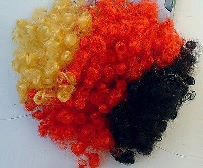 2 PERÜCKEN Deutschland, Schwarz Rot Gold, Afro Locken, Karneval, Fussball, Party