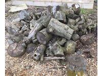 Quantity of Seasoned Apple Tree Logs Suit BBQ Firewood etc