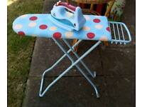 Ironing board and iron