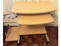 Good Condition Beech Computer Desk Table