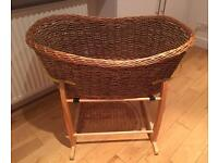 Wicker Moses Basket, Used but in Great Condition £10