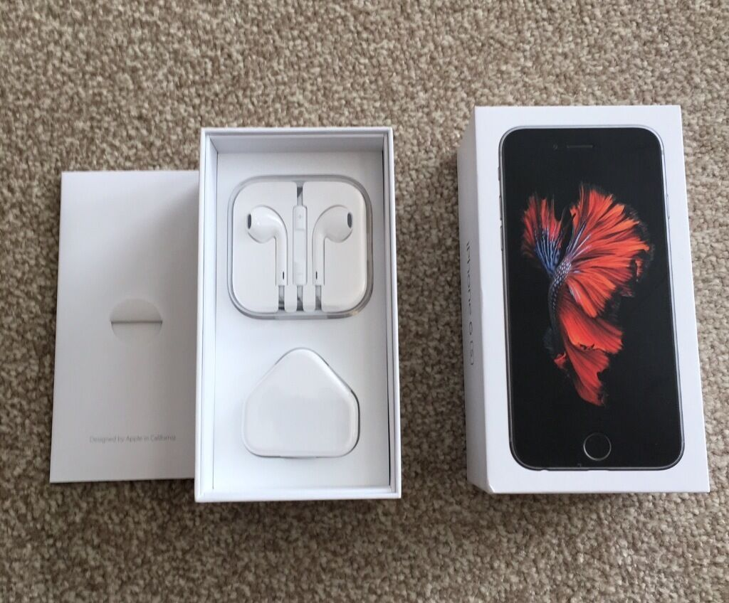 iPhone 6s 128gb. Space Gray. Boxed and like new. EarPods never openedperfect xmas giftin Northampton, NorthamptonshireGumtree - Iphone 6s 128GB (like new) Space Gray O2 Network I am selling my treasured iPhone 6s 128GB. It is in Space Gray and on the O2 Network. It is still boxed and like new. It is my pride and joy and has been protected since the day I got it and is in near...