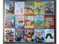 CHILDRENS 17 DVD COLLECTION. SOME STILL SEALED. THOMAS, DORA, FIREMAN SAM, CHUGGINGTON, OCTONAUTS