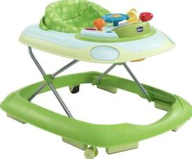 Chicco Baby Walker Green with activity panel