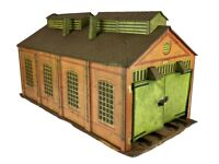 MECCANO HORNBY SERIES O GAUGE TIN PLATE TWIN ROAD/RAIL ENGINE SHED MODEL No.2 for sale  Ottershaw, Surrey