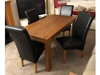 Dining table and 4 chairs - £40