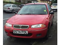 ROVER S214i 1998 RED FOR SPARES OR REPAIR