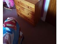 Small ikea wooden chest of drawers