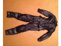 BKS Biker Leather Jacket and Trousers - size 8