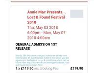 Lost & Found 2018 - 2 Tickets