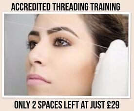 Accredited, Certified and Insurable Threading in salon training