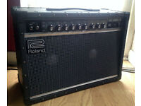 Roland JC-40 Solid state guitar amplifier amp Excellent condition with custom made dust cover