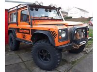 Competition spec Land Rover Defender 200 TDI with New Galvanised Bulkhead