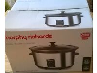 Morphy Richards Slow Cooker, Used twice, Perfect condition, COLLECTION ONLY £15 ONO