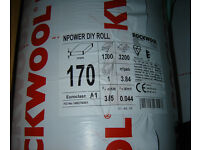 170mm Rockwool Roll Loft Roof Insulation 3.84m2 Pack : 1.2m x 3.2m NEW