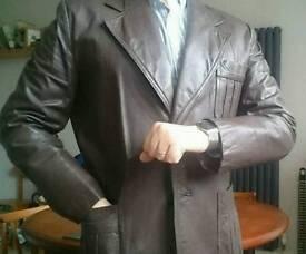 Men's Dark Brown Leather Jacket